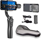 Yomito 3-Axis Handheld Gimbal Stabilizer for Smartphone and GoPro iPhoneXS/8/7 /7Plus /6 Samsung Galaxy S9/S8+/S8 /S7 /S6 /S5 GoPro Hero 3/4/5/6/7. Wireless Control Vertical Shooting Panorama Mode