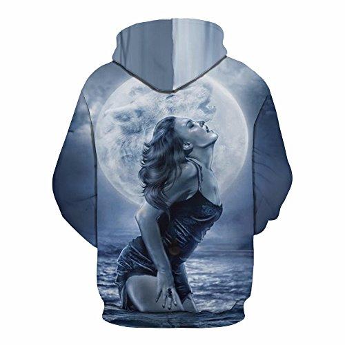 Hoodies Avec Drawstring 3d Print Capuche Ou Longues Blue Hommes Sportswear Casual Jumper Femmes Poche Couples Sweatshirt Manches Respirant À Pour Big 7Fdqw7xt