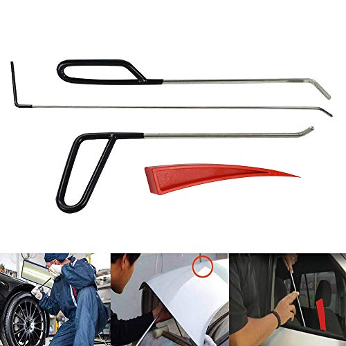 JMgist Rods Tools Paintless Dent Repair Kits for Car Body Dent Removal Stainless Steel Hands Tools and Red - Complete Body C5 Kit