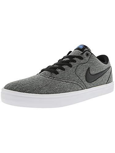 214e7a7704 NIKE Men's SB Check Black/- White Photo Blue Ankle-High Suede Skateboarding  Shoe