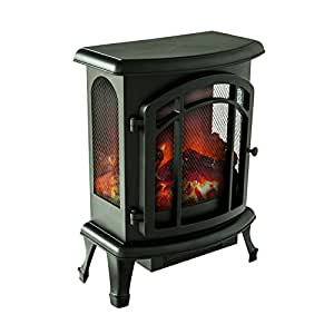 "FLAME&SHADE Electric Fireplace Stove Heater, Portable Free Standing Fireplace Space Heater with Remote, W18.5"" x H24"""