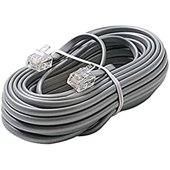 Amazon Com 12 Ft Telephone Cord Cable Satin Silver 4