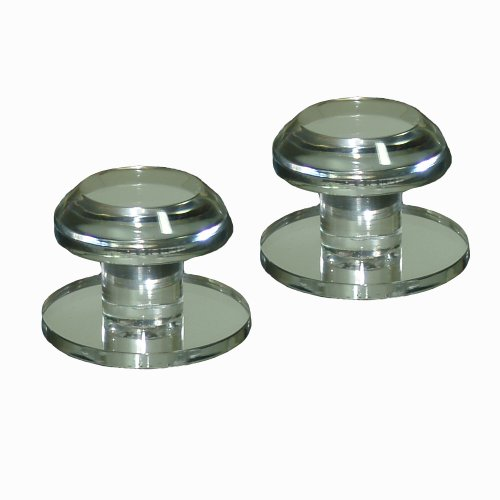 Mirart 1¼ Pull Handle, Self Stick Round Acrylic Mirror Beveled Knob (2 Pack)