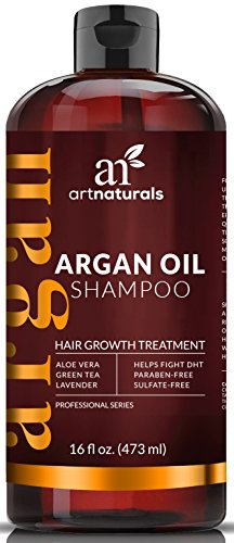 Art Naturals Organic Argan Oil Hair Loss Shampoo for Hair Regrowth 16 Oz - Sulfate Free - Best Treatment for Hair Loss, Thinning & - Growth Product For Men & Women - Infused with Biotin - 2016 (Shine Therapy Shampoo)