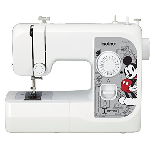 SYS Score 9.7. Brother Sewing Machine, SM1738D, Sewing Machine with 4 Disney Faceplates, 17 Built-in Stitches, Disney Dust Cover, 4 Sewing Feet, LED Work Area