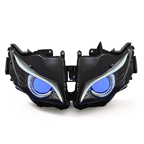 KT Eagle Eye LED DRL Headlight Assembly for Honda CBR1000RR 2012-2016 V2 Blue Demon Eye (Mgp V2)
