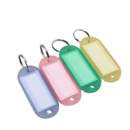 Dealglad® 100 pcs Multi Color ID de clave Etiquetas Etiqueta ...
