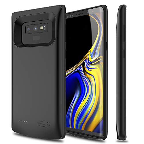 Galaxy Note 9 Battery Case, ALCLAP 5000mAh Rechargeable Portable Charger Case Extended Battery Pack Protective Charging Case Compatible Samsung Galaxy Note 9 (6.4 inch) -Black