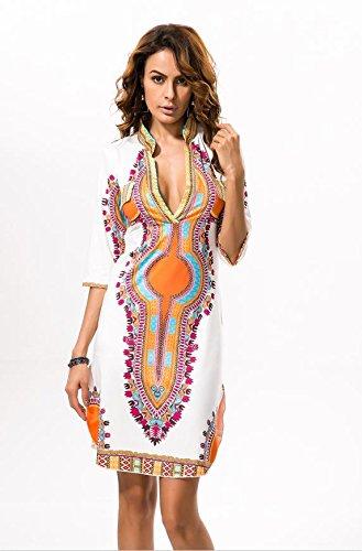 Vogue(ボーグ) ボヘミアンビーチドレス シフォンビーチカバーアップ 花柄 幾何学模様 カバーアップ リゾートウェア ビーチウェア パレオ bohemian カラフル チュニック カーディガン ボヘミアン エスニック柄 アフリカン柄