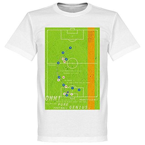Pennarello Diego Maradona 1986Classic Goal maglietta, colore: bianco
