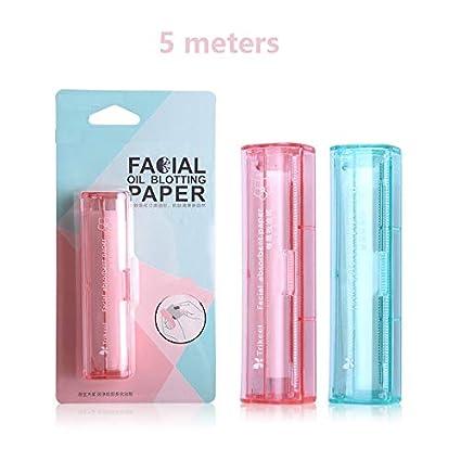 happy- little -bear Papiers professionnels de papier buvard de maquillage pour enlever l'huile faciale et sauver le maquillage sur le visage (Couleur : Pink)