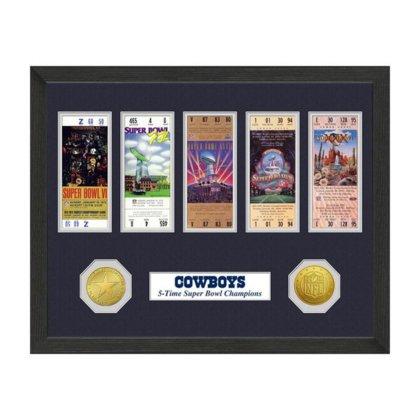 (NFL Dallas Cowboys Sb Championship Ticket Collection, Bronze, 18