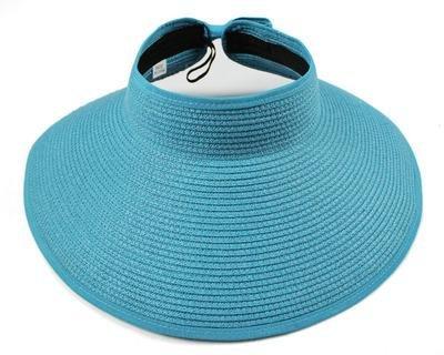 Brolux(TM) 1 PC Brand 2017 New Spring Summer Visors Cap Foldable Wide Large  Brim Sun Hat Beach Hats for Women Straw Hat Wholesale Chapeau  Sky Blue     ... 22f184e81426