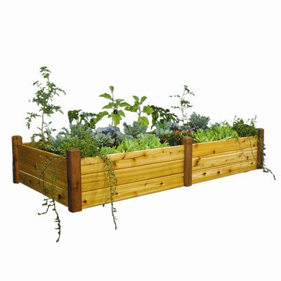 Rectangular Raised Garden Size: 19'' H x 95'' W x 48'' D by Gronomics