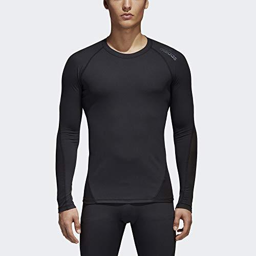 adidas Mens Training Alphaskin Sport Long Sleeve Tee, Black, Medium