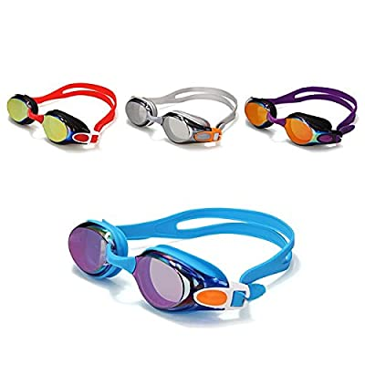 Swimming Glasses Water Sports Anti Fog Uv Protected Goggles Eyewear - 1 Piece Random Color