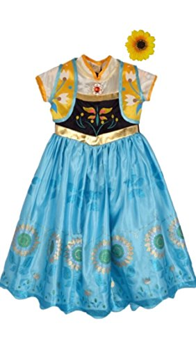 Frozen Fever Inspired Dress with Hair Clip (4-5 Years, Anna)