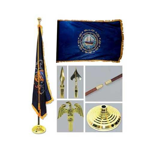New Hampshire 3ft x 5ft Flag Flagpole Base and Tassel