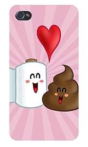 "Apple iPhone Custom Case 4 4S White Plastic Snap On - ""Best Friends by icecream design"