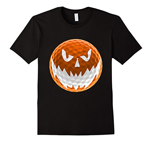 Mens Golf Ball Pumpkin Halloween Face Costume T-Shirts XL Black
