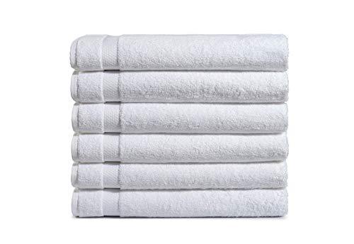 Haven Cotton 887719088600 Bath Towel Set, 6 Pcs, White