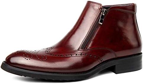 Botas De Tobillo Negro Brogue De Hombre Elegante Vestido Formal Boda Trabajo Informal Botines Zapatos