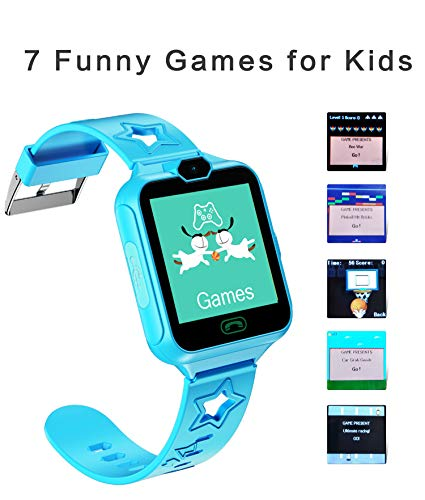 kkcite Smart Watch Phone for Kids Two-Way Call with Games as a Gift for Children Boys & Girls 5-14 Years Old (Best Phone For 14 Year Old)