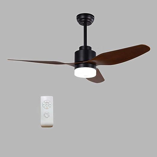 Colgante Luz de techo Control remoto Ventilador de techo de madera ...