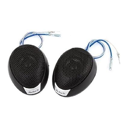 2 piezas de plástico de Metal altavoz Tweeter de cúpula Para el sistema de Audio del