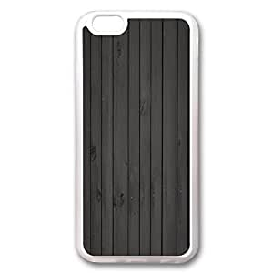 iPhone 6 (4.7 inch) - Slim - Lightweight - ultra-through - drop resistance silicone case, White Cases, TPU material. Custom designs, Gray striped wooden