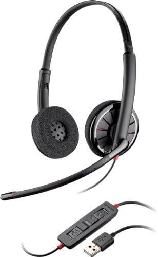 Versione certificata Microsoft Sovraurali Plantronics 85619-01 Blackwire C320-M Cuffie con cavo USB