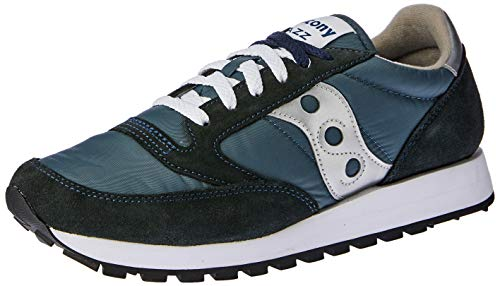 Saucony Originals Men's Jazz Sneaker,Navy/Silver,13 M