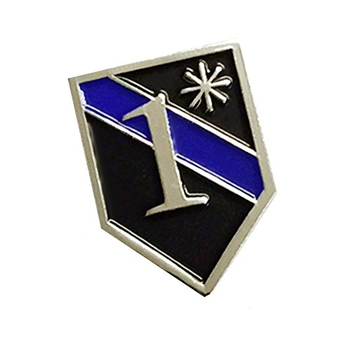 Thin Blue Line Police 1* One Ass To Risk Lapel Pin Package of Two