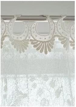 Heritage Lace Coventry 45-Inch Wide by 84-Inch Drop Panel with Rings, Ivory