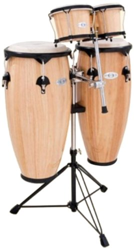 Set Conga Drum (Toca 2300N-K Synergy Series Conga Set with Stand, Bongos & Bongo Mounting Bracket - Natural)