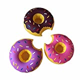 Magical Imaginary 3 Pcs Food Pool Floats- Cute Donuts Cool Pool Floats/ Inflatable Pool Party Drink Floats Swimming Drink Holder (set of 3)