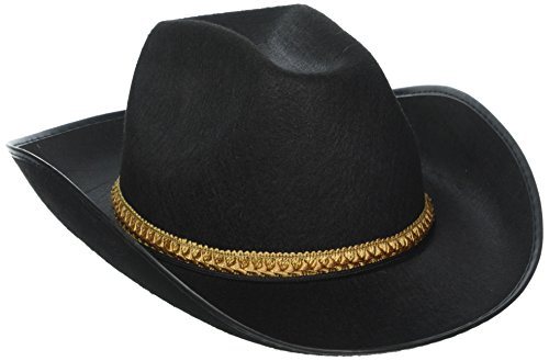 Black Felt Cowboy Hat -