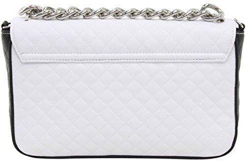 Made Multi Quilted Crossbody White Over Flap Guess G Man Handbag Lux Leather Women's f7fxRnq6X
