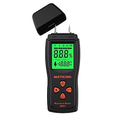 Meterk Handheld Mini Wood Moisture Meter Digital LCD Lumber Damp Meter Detector Tester 2 Pin Probe Range 2%?70%