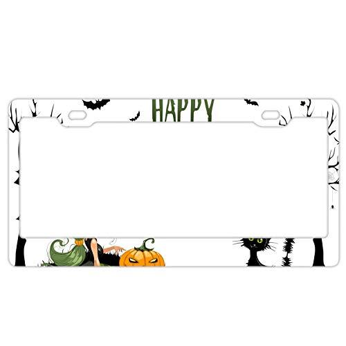 Elvira Jasper Happy Halloween Licenses Plates Frames Car Licenses Plate Covers Holders for US -
