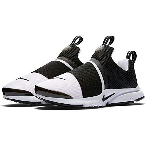 (Nike Kids Presto Extreme Running Shoe (7) White/Black)