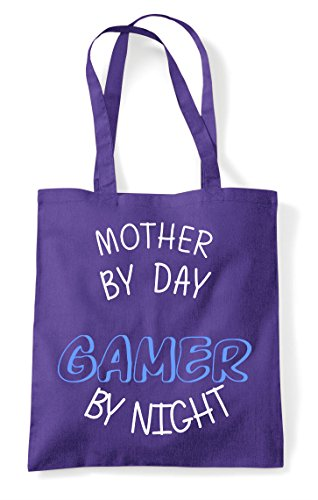 Night Gaming Day Statement Mother Personalised By Gamer Tote Purple Shopper Bag wXtYXxCq5a