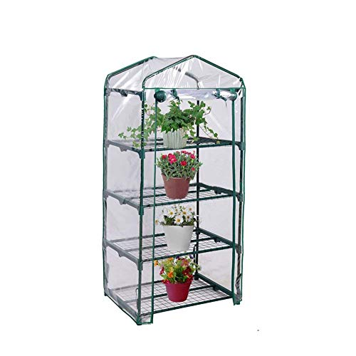 FORUP Mini Greenhouse 4 Tier, 27'' L x 19'' W x 62'' H (Green) by FORUP (Image #1)
