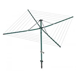 Hills Rotary 6 Premium Hoist Washing Clothes Line Forest Glade Green