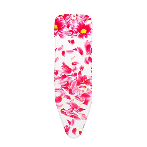 Brabantia Ironing Board Cover with 2 mm Foam - 124 x 38 cm, Standard, Pink...