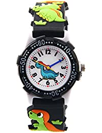 Waterproof Kids Watch for Girls Boys Time Machine Analog Watch Toddlers Watch 3D Cute Cartoon Silicone