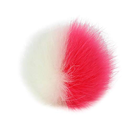 1Pcs Faux Fox Fur Fluffy Pompom Ball for Hats Shoes Scarves Bag Charms DIY Knitting Accessires (G) (Hats Knitting Felted)