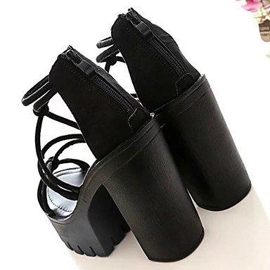 LFNLYX Las mujeres sandalias de verano Confort Casual PU Chunky talón negro Hebilla caminando Black