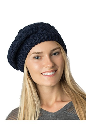 Accessory Necessary Fall Winter Knit Beanie Beret Hat for Women Soft Knit Lining Many Styles