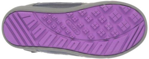 Hi-Tec Omaha Wp Jrg - botas de senderismo impermeables de ante niña gris - Charcoal/Grey/Purple